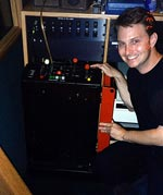 John and a very cool old digital reverb - the EMT 250 - at Ocean Way in 1997