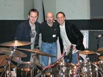 Engineer John Rodd, legendary drummer Steve Smith (Journey, Vital Information, etc) and producer Craig Stuart Garfinkle in Capitol Studio B