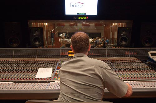 John Rodd recording at The Bridge Recording - another great studio in Los Angeles.