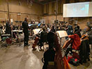 Maestro Michael Abels and  recording sessions at Sony Scoring Stage