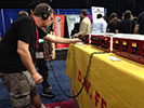 John listening to some Fearn gear at AES 2014