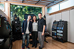 Chris Lord, Penka Kouneva and John mixing at my studio Clearstory Sound