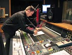 John working on the Neve at Capitol studios during the scoring session for SMILE