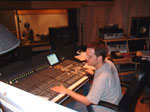 <i>Bettie Page: Dark Angel</i> recording session - John at the console recording