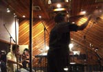 Composer Gordy Haab conducting at Entourage Studios